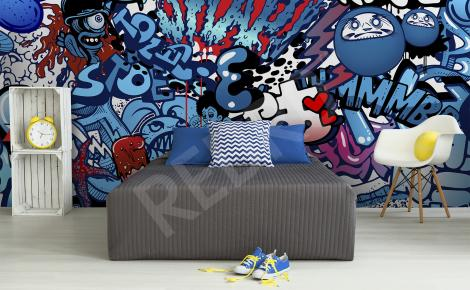 Fototapeta graffiti do pokoju nastolatka