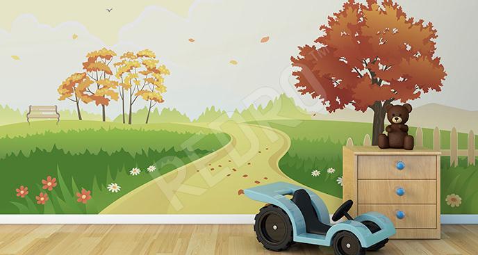 Fototapeta jesień do pokoju dziecka