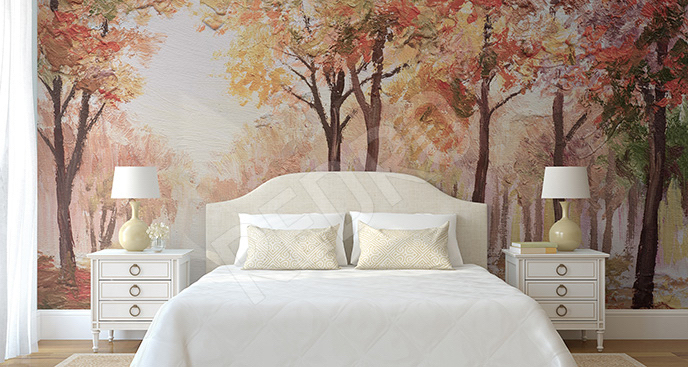 Fototapeta jesienna do sypialni