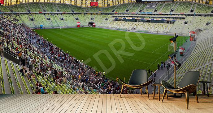 Fototapeta kibice na stadionie