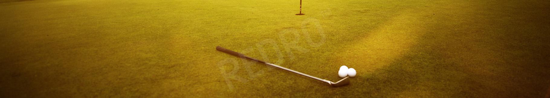 Fototapeta kij i piłki golfowe