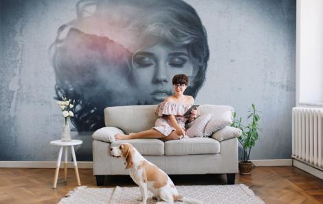 Fototapeta kobieta do salonu