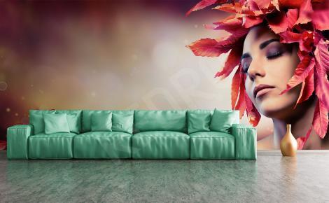 Fototapeta kobieta jesienny portret