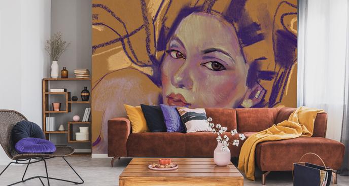 Fototapeta kobieta w malarskim stylu