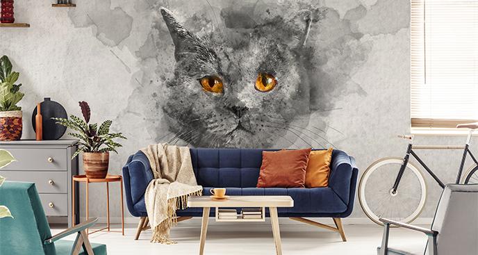 Fototapeta kocie spojrzenie