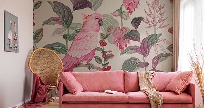 Fototapeta kolorowa papuga