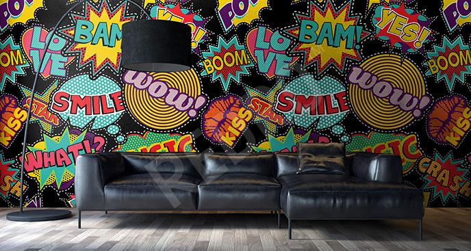 Fototapeta kolorowa pop art