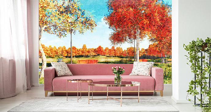 Fototapeta kolorowe drzewa