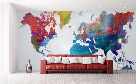 Fototapeta kolorowe kontynenty