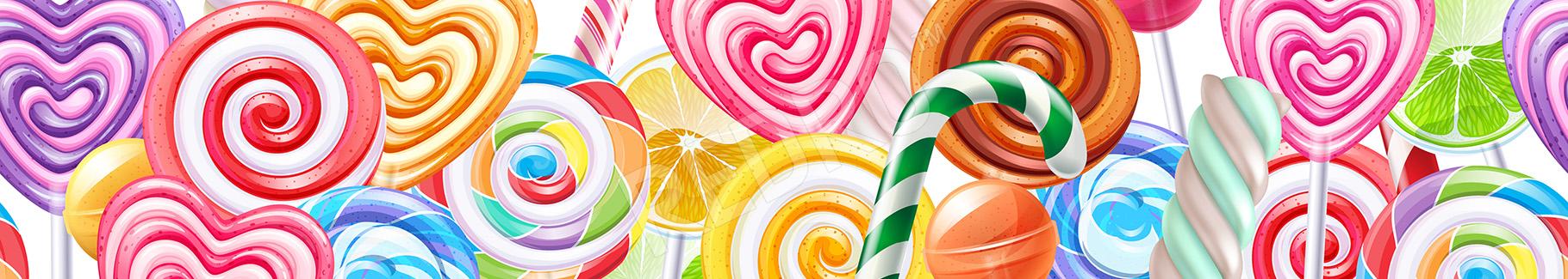 Fototapeta kolorowe lizaki