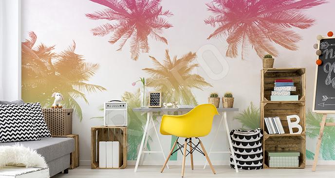 Fototapeta kolorowe palmy