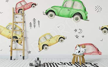 Fototapeta kolorowe samochody