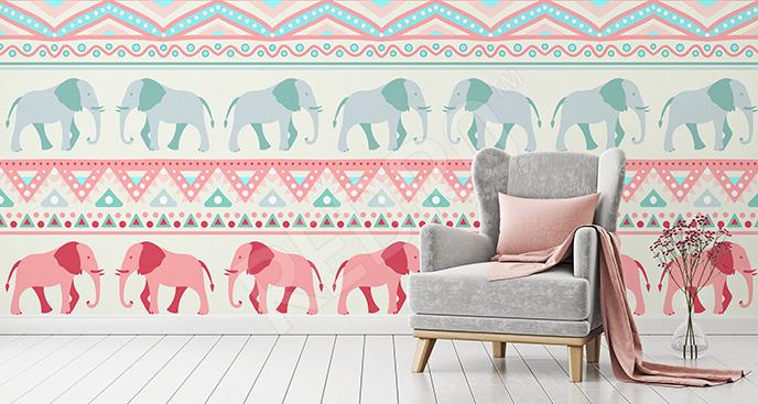 Fototapeta kolorowe słonie