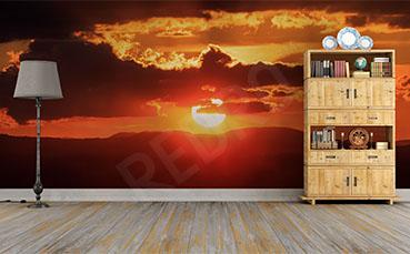 Fototapeta kolory zachodzącego słońca
