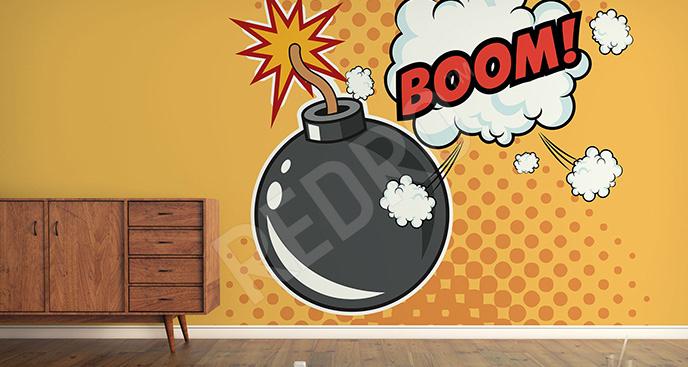 Fototapeta komiksowa bomba