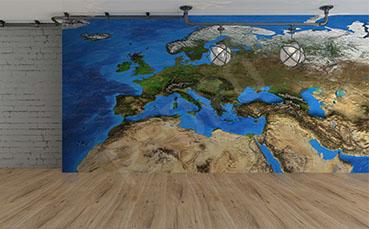 Fototapeta kontynent 3D