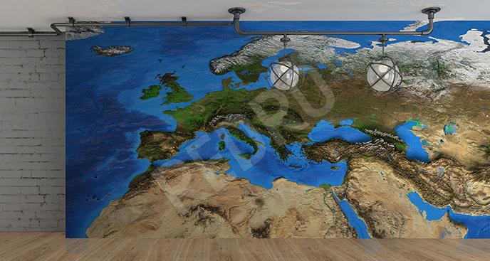 Fototapeta kontynenty 3D