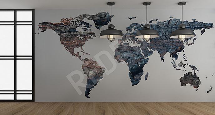 Fototapeta kontynenty do przedpokoju