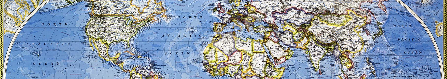 Fototapeta kontynenty - mapa świata