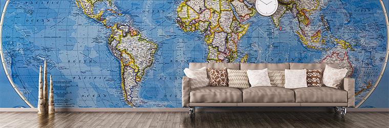 Fototapeta kontynenty mapa świata