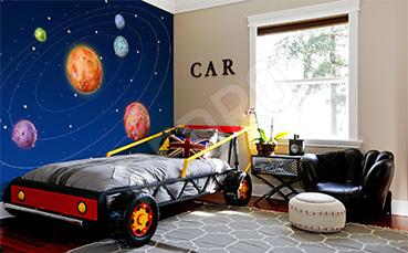 Fototapeta kosmos do pokoju dziecka