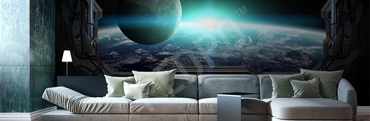 Fototapeta kosmos - widok na Ziemię