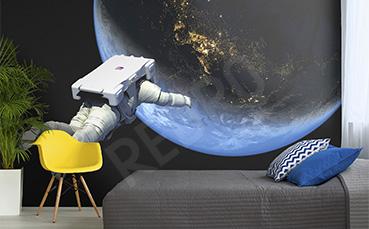 Fototapeta kosmos z astronautą