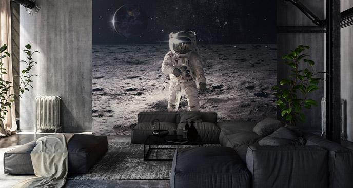 Fototapeta kosmos z kosmonautą