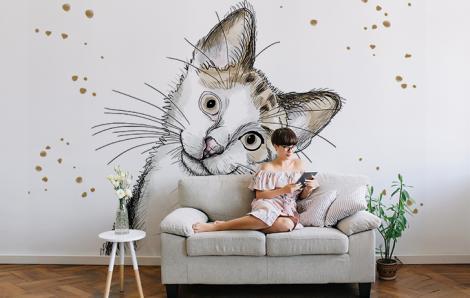 Fototapeta kot w akwareli