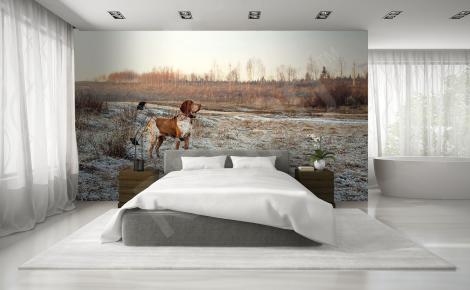 Fototapeta krajobraz i pies