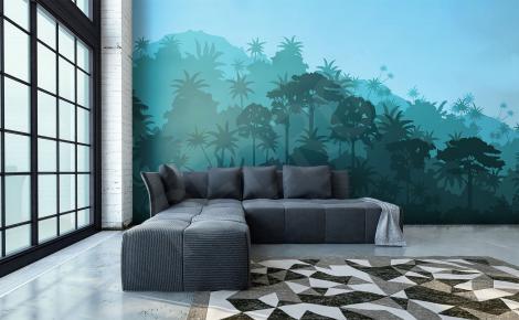 Fototapeta krajobraz lasu tropikalnego