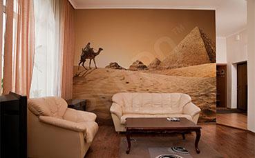 Fototapeta krajobraz z piramidami