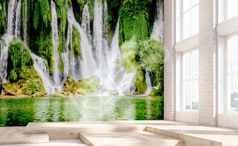 Fototapeta krajobraz z wodospadem