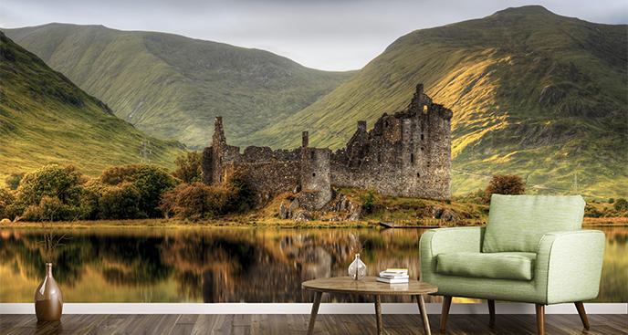Fototapeta krajobraz z zamkiem