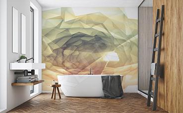 Fototapeta przestrzenna korytarz z oknami