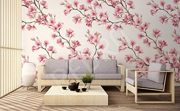 Fototapeta kwiaty w stylu japońskim