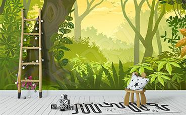 Fototapeta las tropikalny dla dzieci