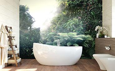Fototapeta las tropikalny do łazienki