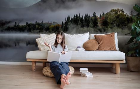 Fototapeta las we mgle do pokoju dziennego