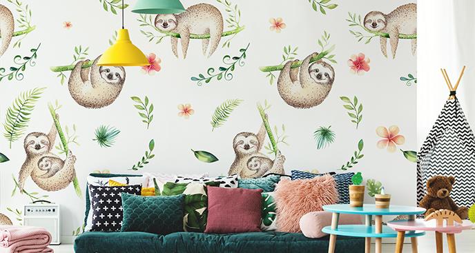 Fototapeta leniwce dla dzieci