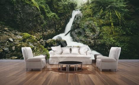Fototapeta leśny wodospad
