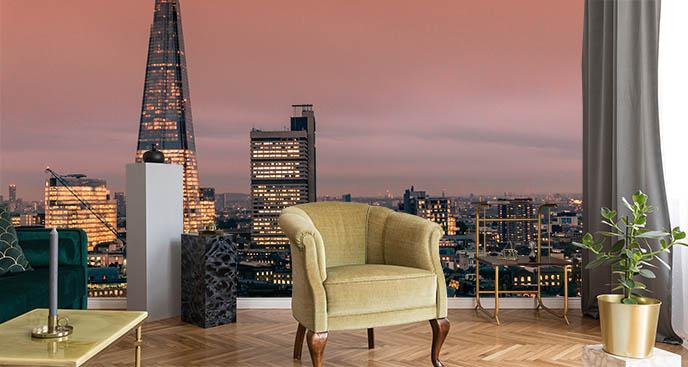 Fototapeta Londyn i zachód słońca