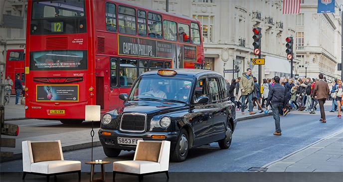 Fototapeta londyńska taksówka