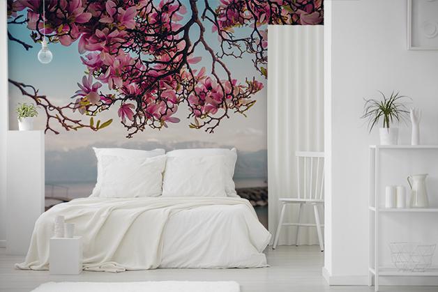 Fototapeta - Magnolia na tle jeziora