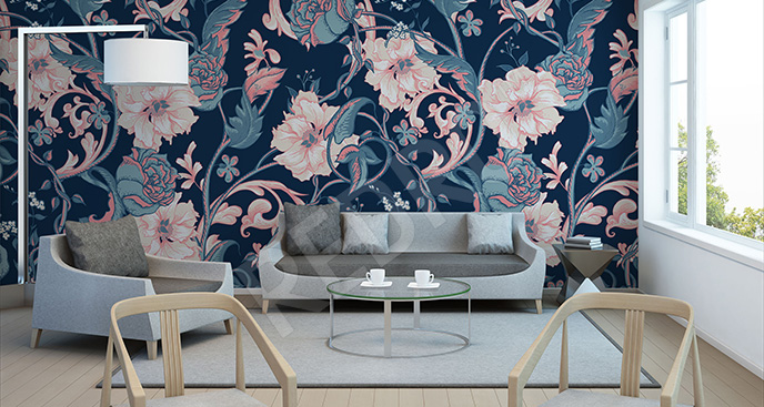 Fototapeta magnolie w stylu vintage