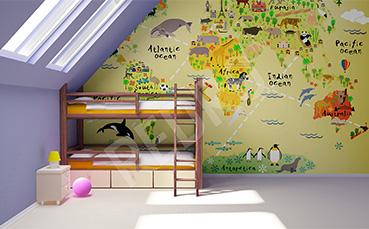 Fototapeta mapa dla dzieci