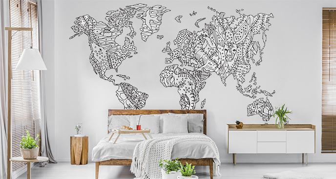 Fototapeta mapa do sypialni