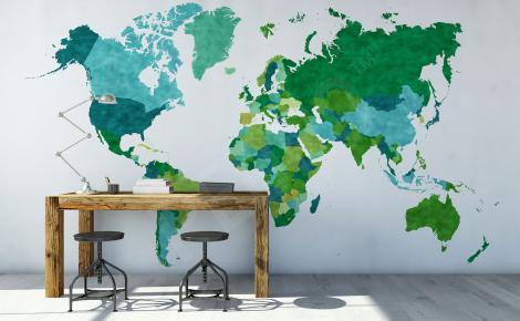 Fototapeta mapa i kontynenty