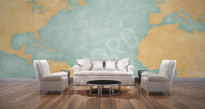 Fototapeta mapa kontynentów