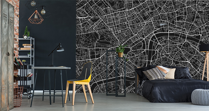 Fototapeta mapa Londynu